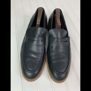 Bruno Magli Men's Loafers Size 10.5 Black Leather